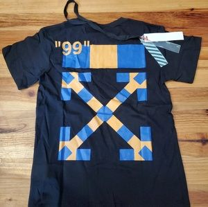 "Off-white Yellow/blue pattern ""Milan"" Tee Shirt"